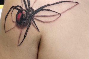 蜘蛛リアリスティックタトゥー