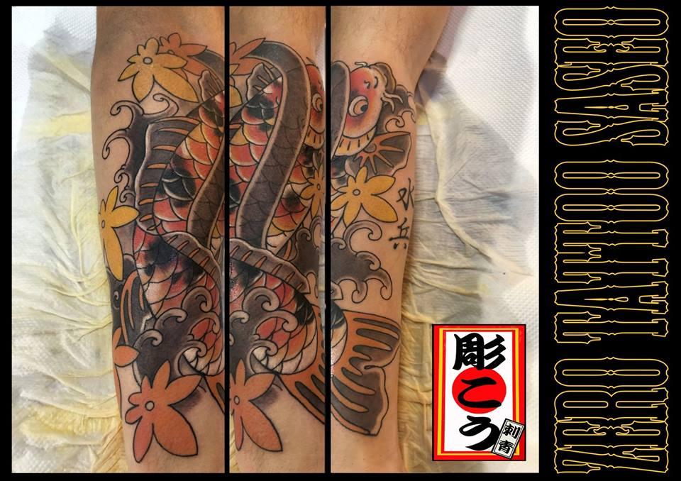 和彫り錦鯉カラー