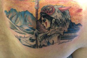 もののけ姫のアニメタトゥー