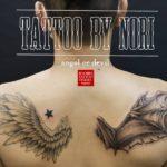 天使と悪魔の翼のタトゥー