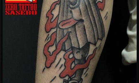 唐傘妖怪のタトゥー