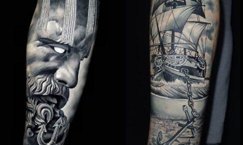 海賊船のタトゥー